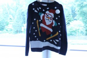schwarzer Weihnachtspullover