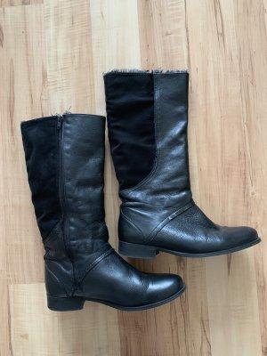 Schwarzer Winter Stiefel