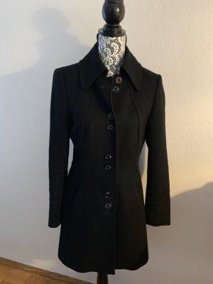 Schwarzer (Woll)Kurzmantel von Esprit Collection Gr. 36