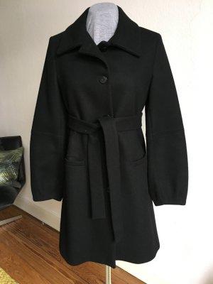 Imperial Veste longue noir laine vierge