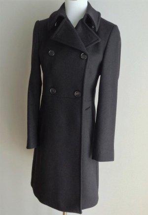Wollen jas zwart Wol