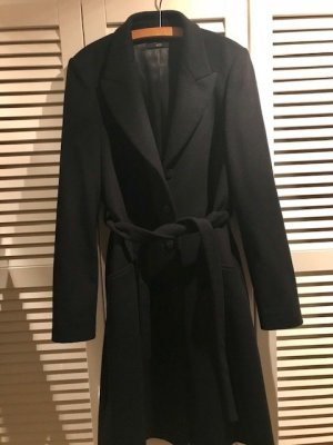 Hugo Boss Wollen jas zwart Wol