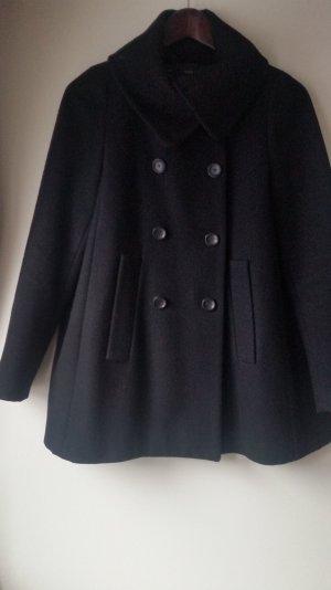 Schwarzer Wollmantel von Zara Größe M