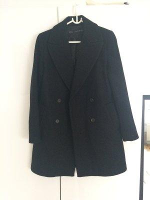 Schwarzer Wollmantel Zara, Größe S