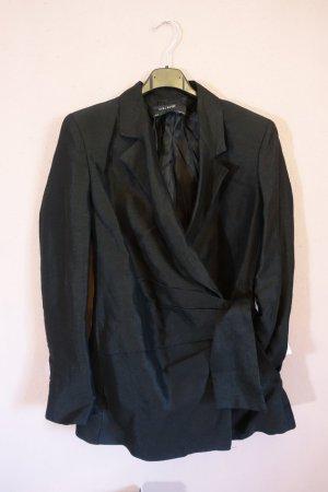 Zara Blazer boyfriend noir tissu mixte