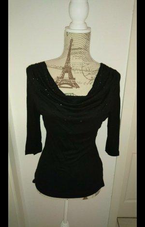 Waterval shirt zwart