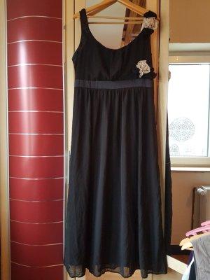 b.p.c. Bonprix Collection Vestido de noche negro-blanco Poliéster
