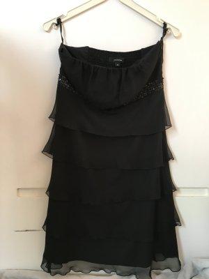 Schwarzes Abendkleid mit Glitzerverzierung
