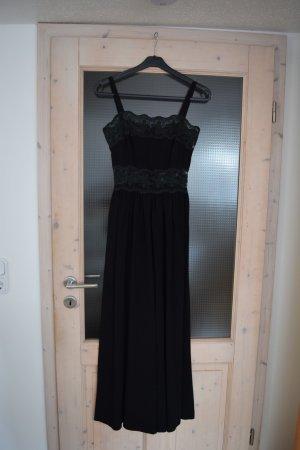 Schwarzes Abendkleid mit Spitzendetails in Größe 34/36