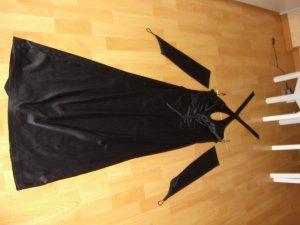 Schwarzes Abendkleid Neckholder