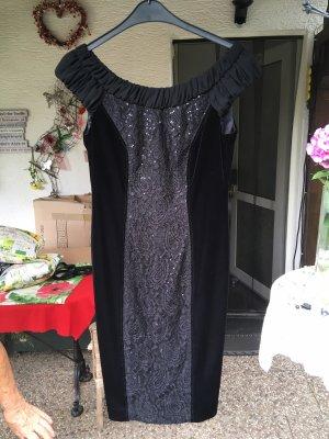 Schwarzes Abendkleid von Basler in Größe 38 Samt mit Pailletten
