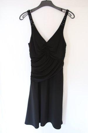 schwarzes Abi-Kleid mit Pailletten