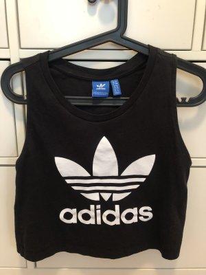 Schwarzes Adidas Crop Top