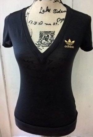 Schwarzes Adidas Shirt Gr.34/XS.