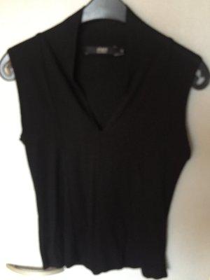Schwarzes ärmelloses Shirt