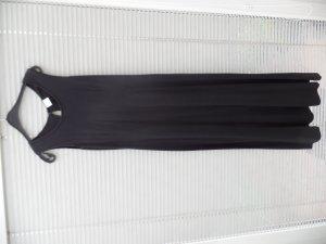 schwarzes, ärmelloses Strandkleid