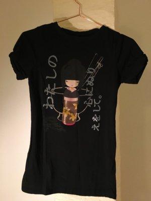 Schwarzes Asia-Shirt von ZARA