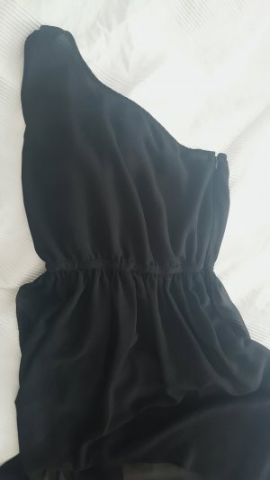 Schwarzes, asymmetrisches Abendkleid von Mango (Größe S)