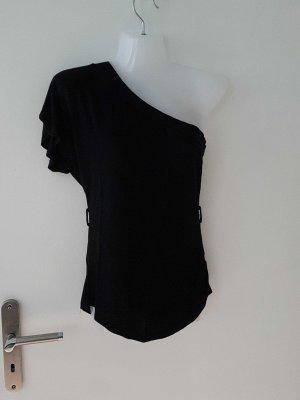 schwarzes Asymmetrisches Shirt
