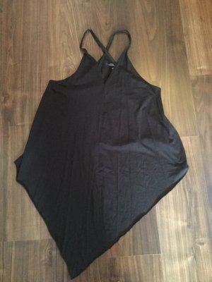 Schwarzes asymmetrisches top vorne lang hinten kurz von H&M