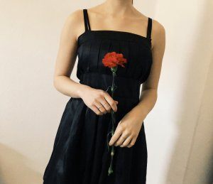 Schwarzes Ballkleid 34 36 Satin Kleid schwarz