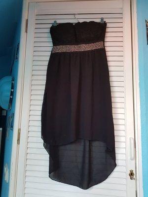 Kbk Vestido de baile negro-color oro