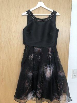 schwarzes Ballkleid mit Blumenprint von Coast