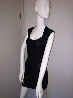 Schwarzes Bandagenkleid