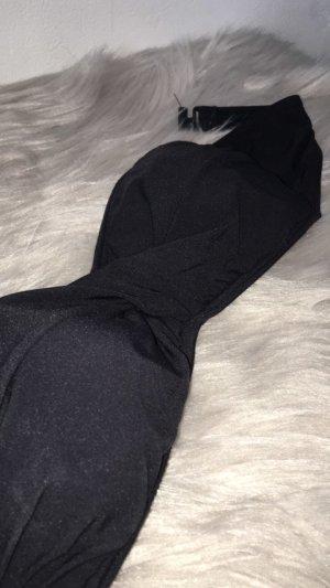 schwarzes Bandeau Bikinioberteil