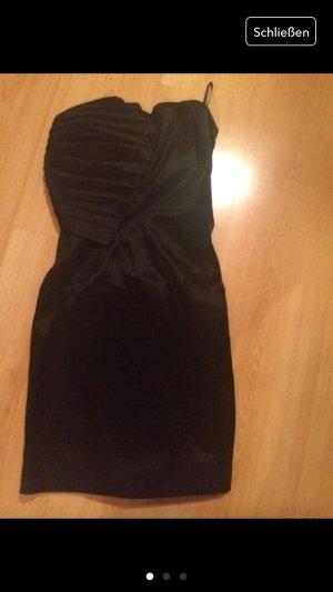 Schwarzes Bandeau-Kleid