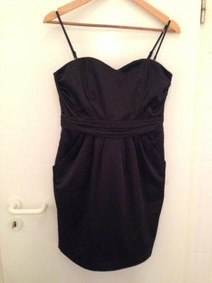 Schwarzes Bandeau-Kleid von H&M in Größe 40