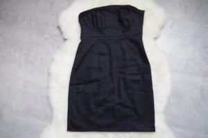 schwarzes Bandeau Minikleid von H&M