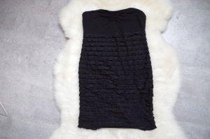 Schwarzes Bandeau - Rüschen - Minikleid von H&M