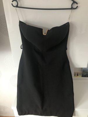Mini-jurk zwart Gemengd weefsel