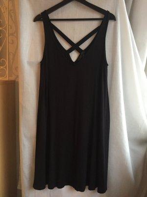 Schwarzes Basic Kleid