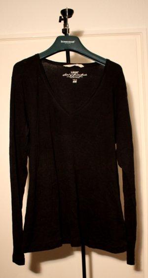 schwarzes basic Longshirt
