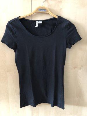 Schwarzes Basic T-Shirt von H&M