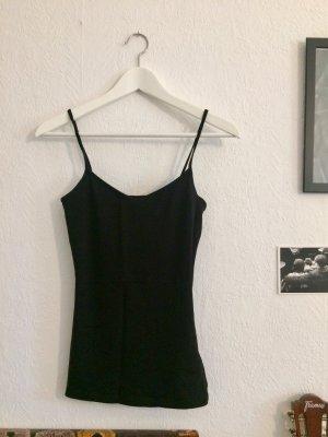 schwarzes Basic Top