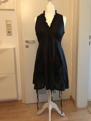 Schwarzes Baumwollkleid in 38