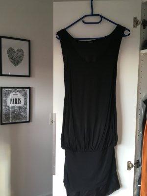 Schwarzes bimaterial Kleid