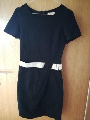 Select Pencil Dress black-natural white viscose
