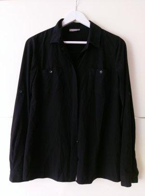 Schwarzes Blusenhemd