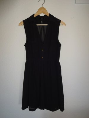 Schwarzes Blusenkleid, H&M, Gr. 40