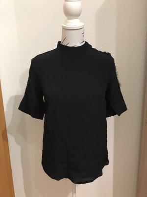 Schwarzes Blusenshirt