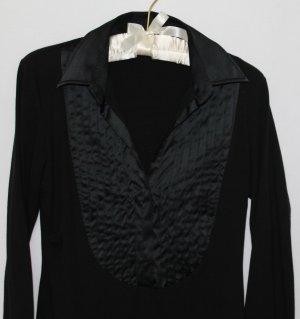 Schwarzes Blusenshirt mit Bieseneinsatz von van Laack