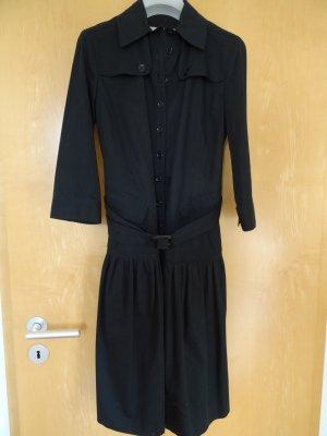 schwarzes BURBERRY Midi Kleid Gr. 36