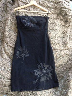 Vero Moda Vestido bustier negro Algodón