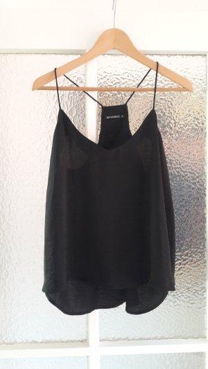 Schwarzes Camisole-Top aus Satin