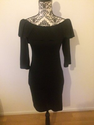 Zara Vestido de manga larga negro