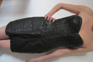 H&M Leren jurk zwart Imitatie leer